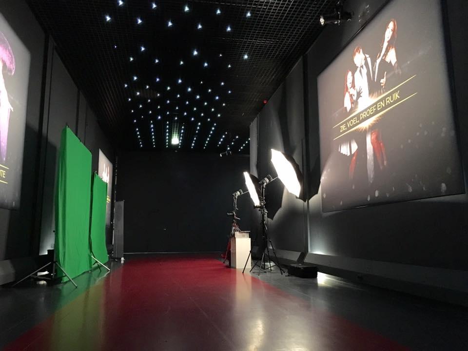 Green screen op een gala avond