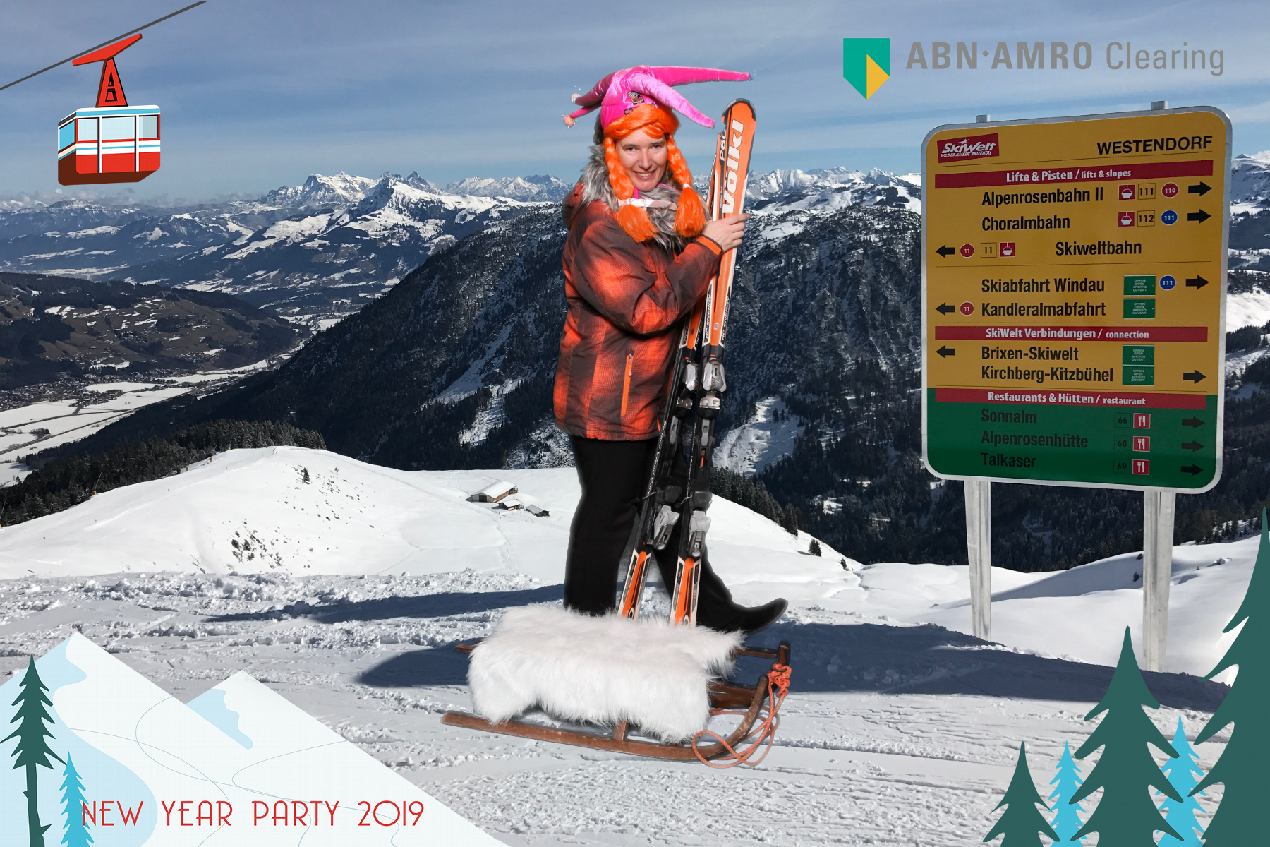 Apres-ski party photobooth