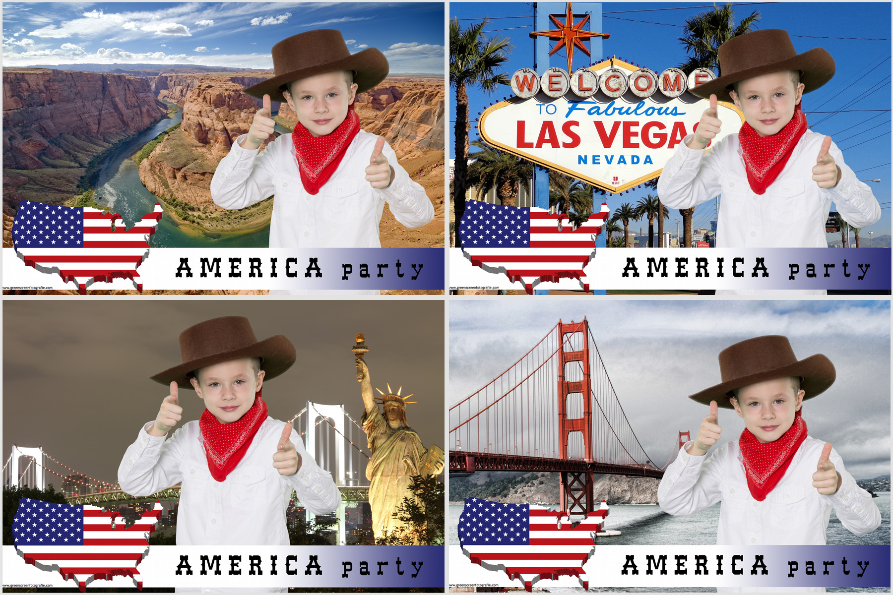 green screen thema america