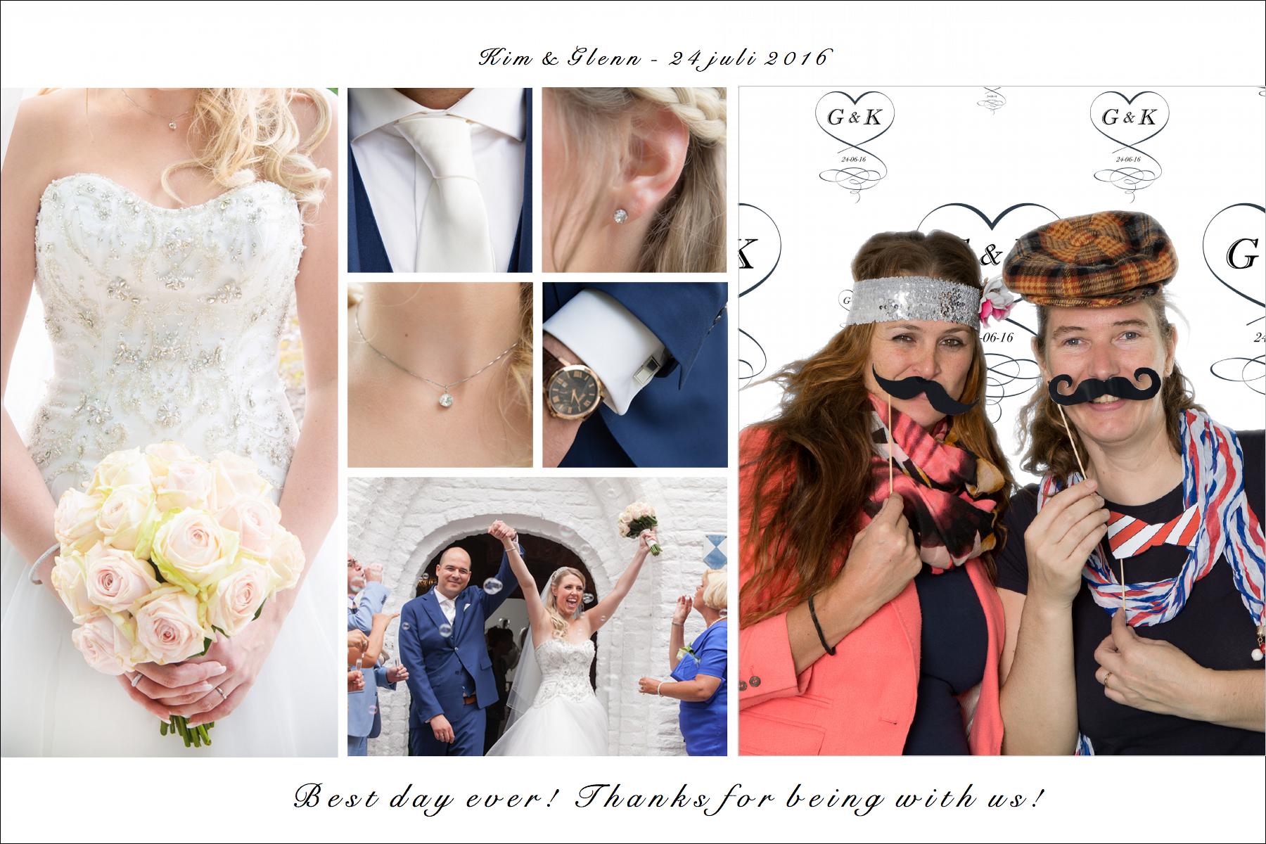 bruiloft bedankjes